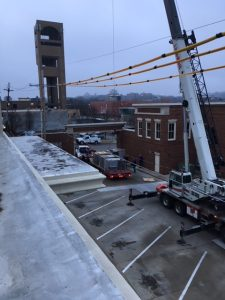Commercial HVAC Rooftop installation by Westerhouse, located in Eudora.